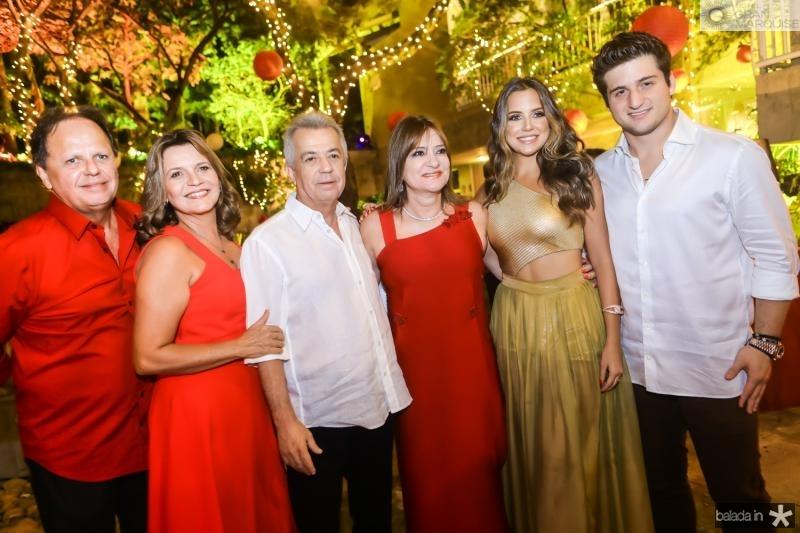 Wilto e Geni Correia Lima, Clovis e Pretinha Rolim, Fernanda Levy e Omar Macedo