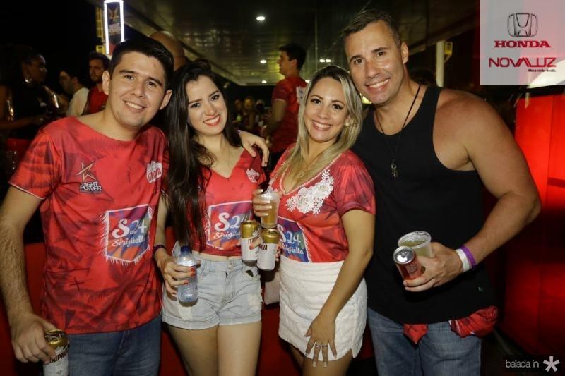 Marcelo Timbo, Nayara Rocha, Camila Menezes e Sergio Estrela