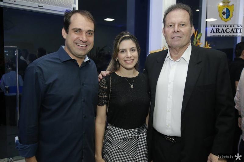 Salmito Filho e Jamile Salmito e Julinho Ventura
