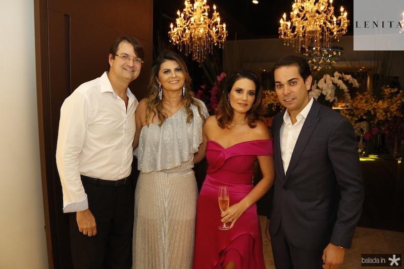 Edilson e Michelinne Pinheiro com Renata e Claudio Vale