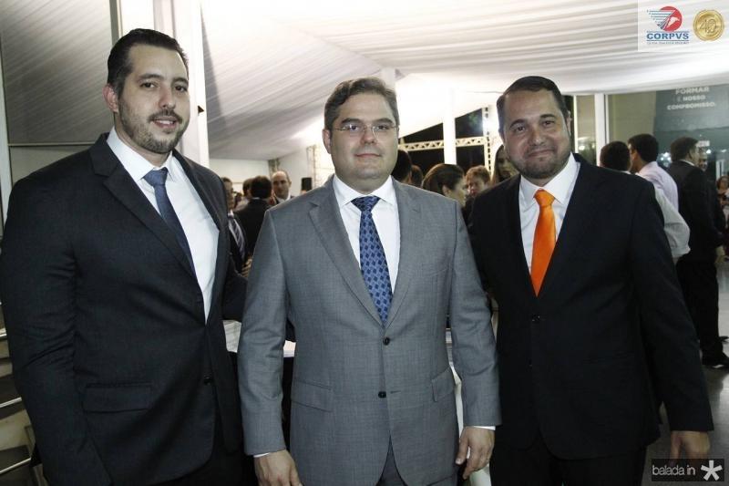 Tiago Leal, Edson Queiroz e Edinardo Barros