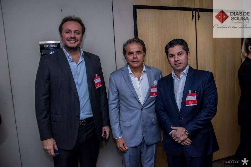 Adriano Nogueira, Ivan Bezerra e Pompeu Vasconcelos