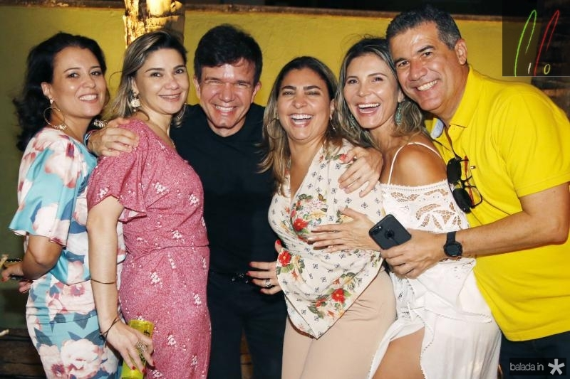 Vivi Rocha, Ana Beatriz, Waldonys, Joselma Macedo, Regina Brito e Adriano Lima