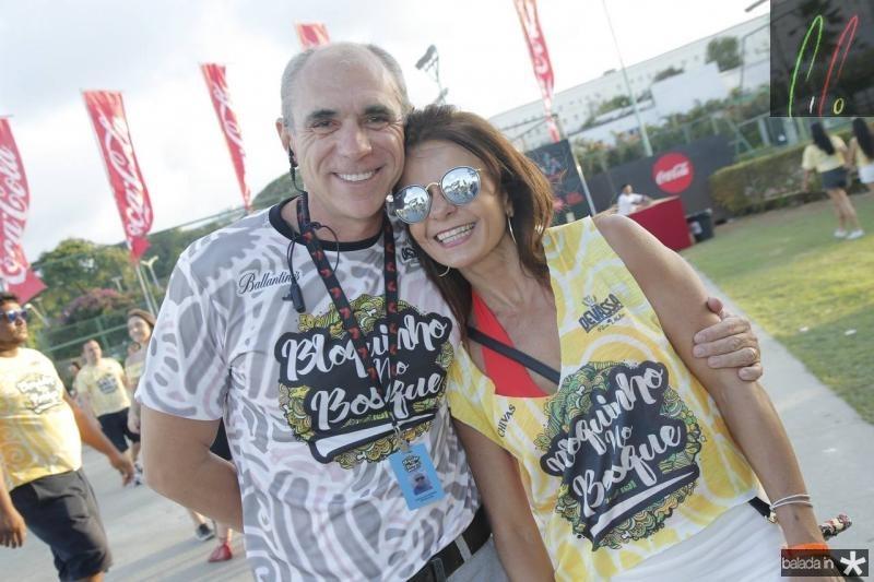 Douglas Santos e Claudia Bezerra