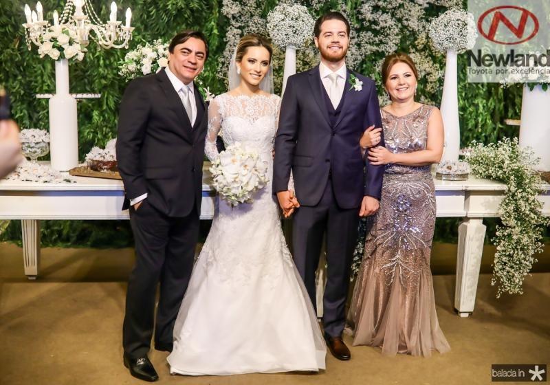Edson e Larissa Peixoto, Luiz Camelo e Eveline Peixoto