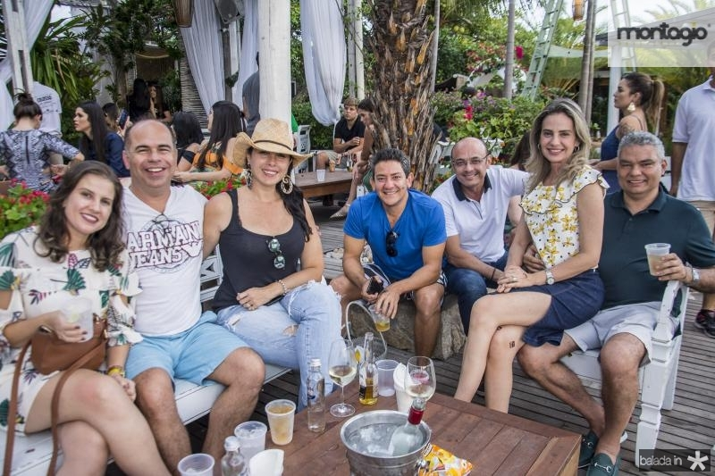 Andrea Brito, Marcio Menezes, Izabela Fiuza, Wilson Queiroz, Adriano fiuza, Adriana Cavalcante e Geraldo Cavalcante