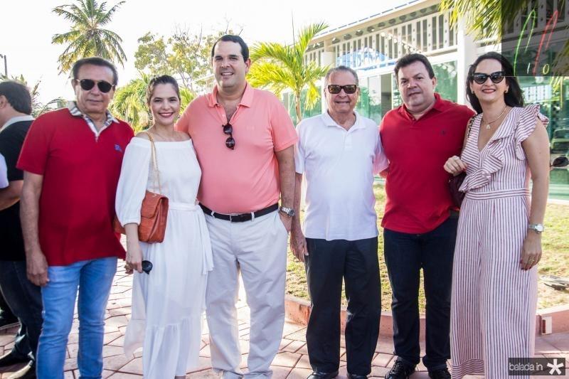Gaudencio Lucena, Cristiana Carneiro, Lucio Carneiro, Valman Miranda, Fernando Ferrer e Adriana Miranda