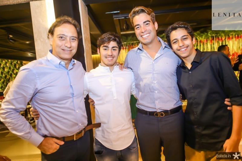 Sergio e Henrique Bezerra, Leonardo Vidal e Enzo Bezerra