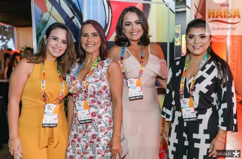 Camila Giffone, Eva Lino, Tarciana Borges e Marcia Bezerra