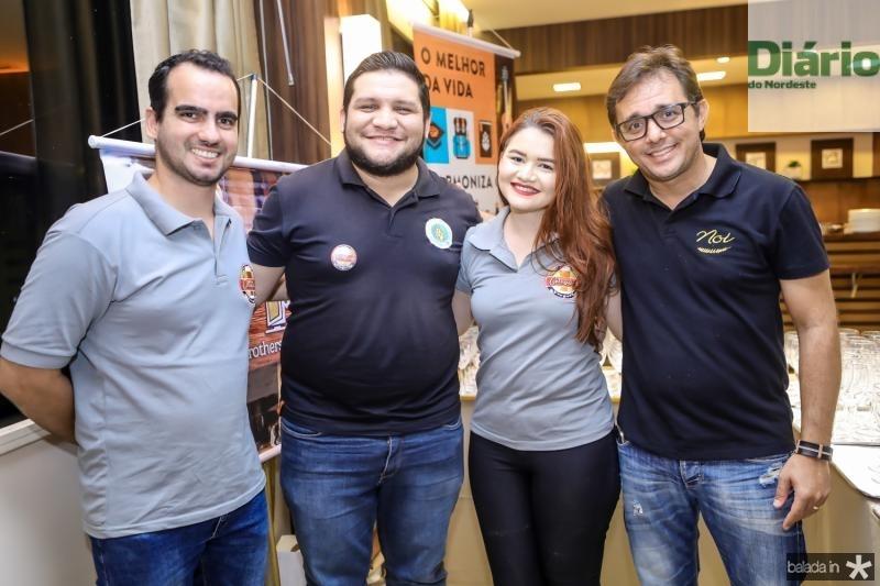 Fabricio Cesar, Urlan Brito, Juliane Costa e Geovane Salomao