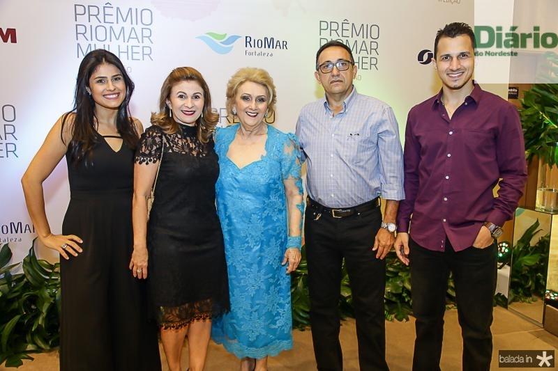 Lorena Conte, Sandra Mendes, Socorro França, Juarez e Felipe Soares