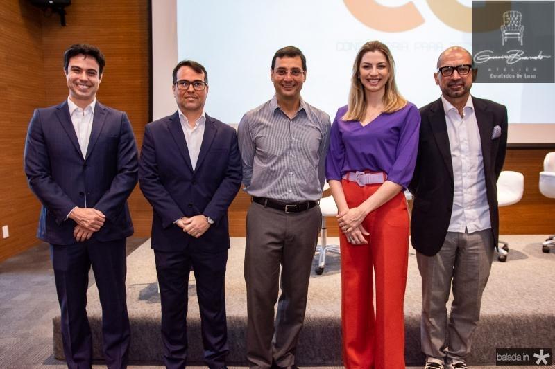 Marco Furtado, Paulo Duarte, Luiz Miranda, Lina Santin e Eurico Santi