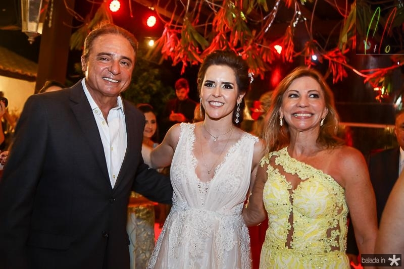 Nestor Silva, Cristina Brandao e Eveline Lima