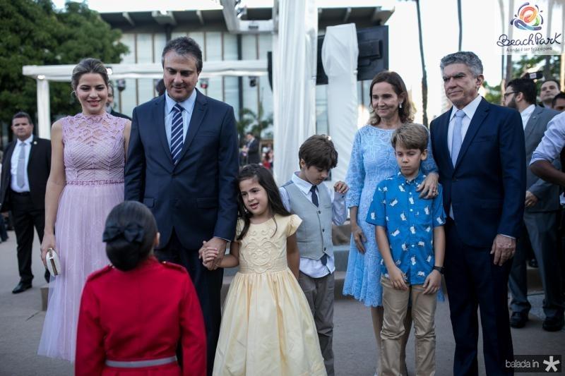 Onelia, Camilo, Luiza e Pedro Santana, Izolda e Veveu Arruda