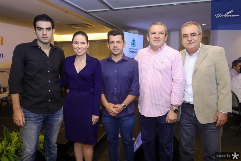 Rodrigo Nogueira, Agueda Muniz, Erick Vasconcelos, Jaime e Assis Cavalcante
