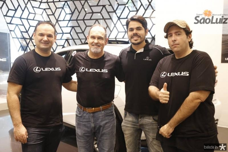 Glauco Feitosa, Antonio Marques, Pedro Lima e Regis Benevides