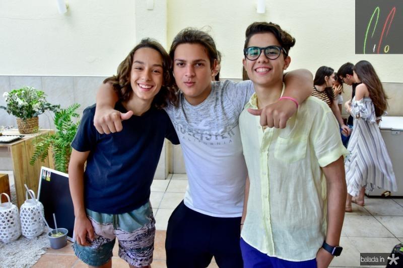 Matheus Arruda, Davi Nogueira e Joao Arthur