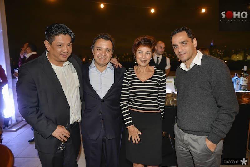 Yin Lee, Henrique Pereto, Sonia Francisco e Roberto Ferrari