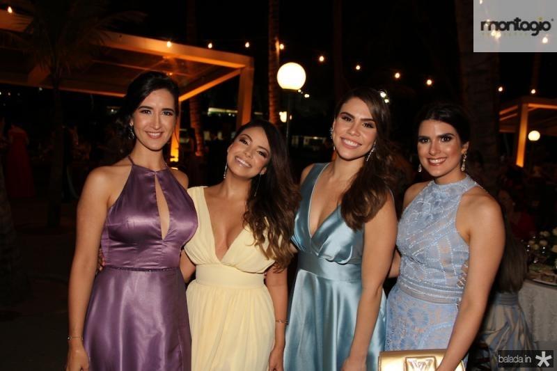 Sarah Pianowski, Clarisse Santana e Rebeca Souza, Aline Brigido