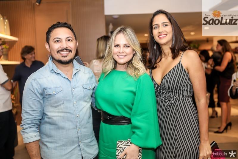 Marcilio Sousa, Nelise Franco e Luciana Brasileiro