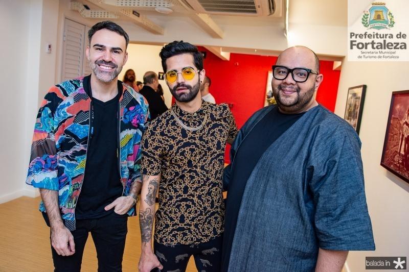 Thiago Malva, Danillo Costa e Fernando Lackman