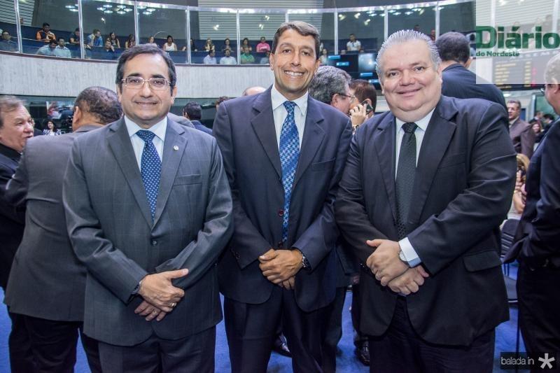 Jadson Cruz, Gony Arruda e Pedro Jorge Medeiros