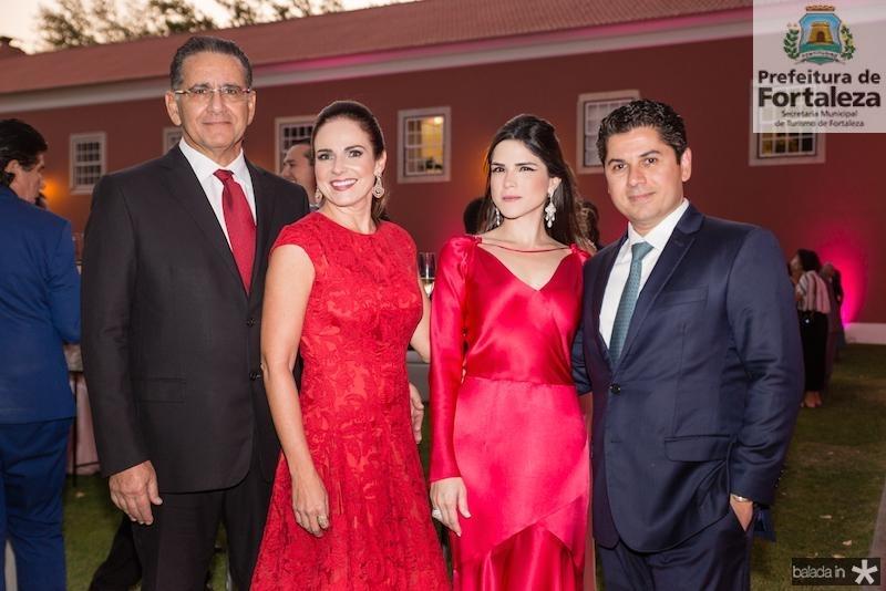 Paulo Ary, Beatrice Ary, Marilia e Pompeu Vasconcelos