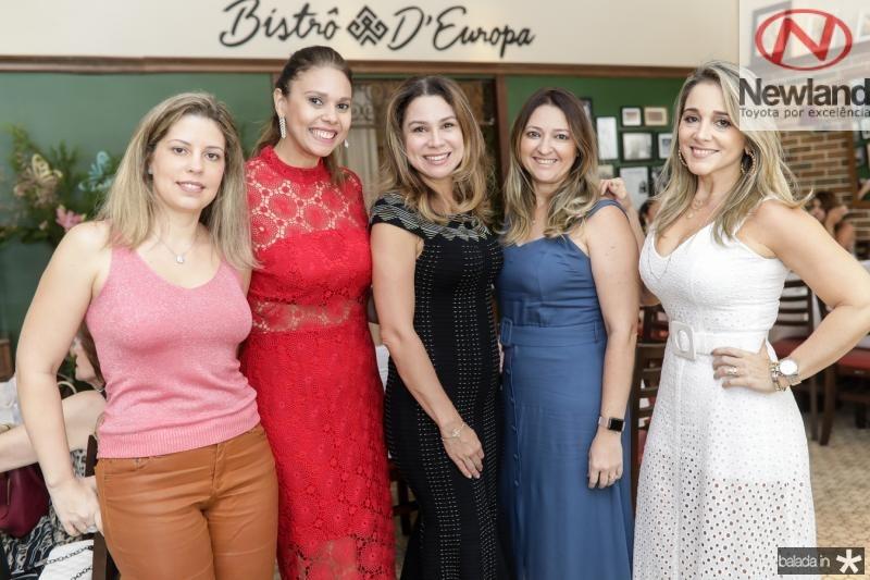 Patricia Cruz, Erica Gomes, Ingrid Feitosa, Harla Pinheiro e Sofia Cruz