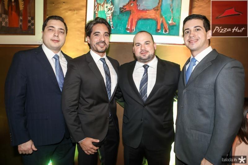 Bruno Moreira, Rodrigo Porto, George Ibiapina e Gilberto Almeida