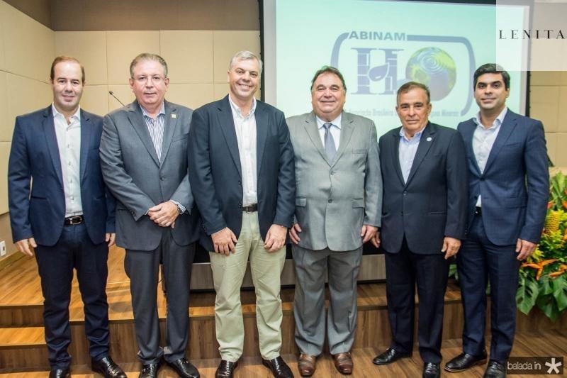 Cesar Ribeiro, Ricardo Cavalcante, Lucas Ferianci, Carlos Alberto Lancia, Claudio Targino e Queiroz Filho