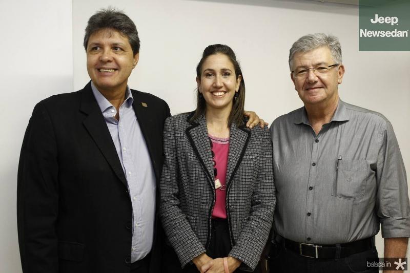Marcos Oliveira, Alessandra Romano e Carlos Maia