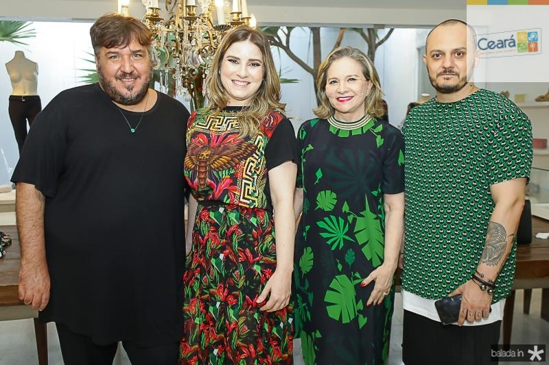 Leonan Dantas, Maria Clara Dalolio, Natercia Jereissati e Giuliano Mazeti