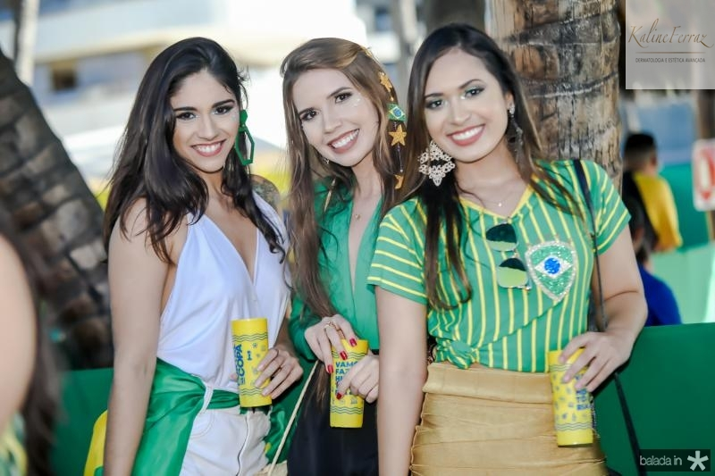 Vitoria Mendonça, Isabelle Rodrigues e Jessica Sampaio