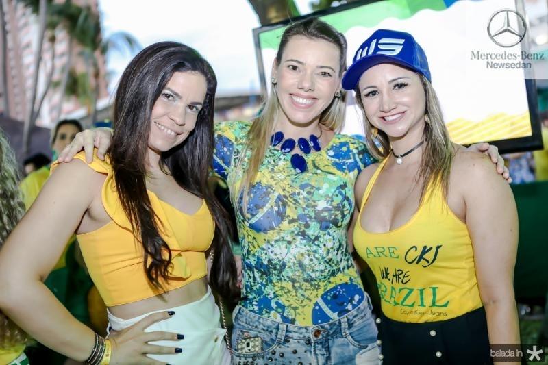Aline Fernandes, Andrea Oliveira e Izara Parente