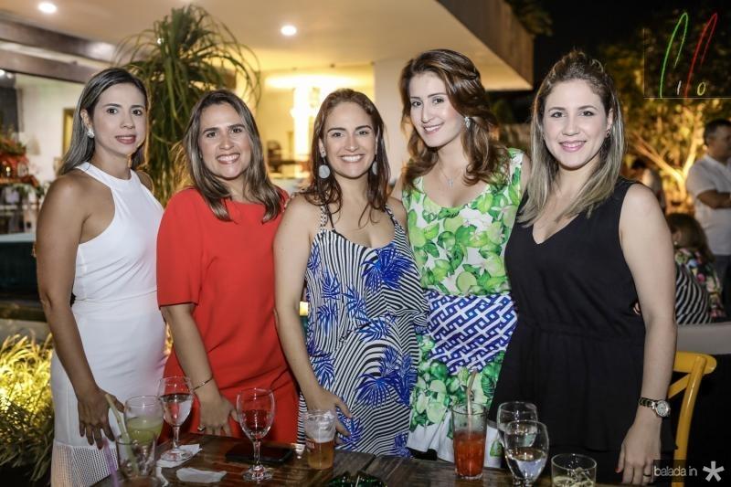 Eliana Leal, Ana Leal, Silvia Brandao, Aline Vilar e Ana Paula Aragao