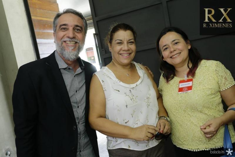 Mauro Costa, Cida Parente e Djane Nogueira