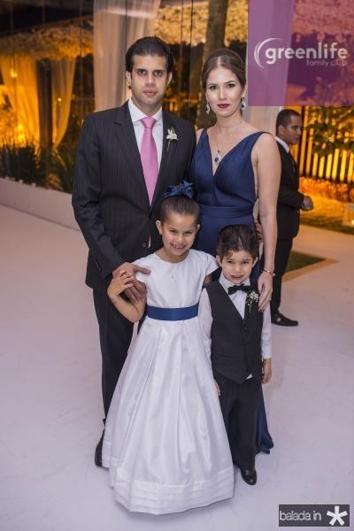 Bruno, Maria Vitoria, Pedro e Carolina Borges