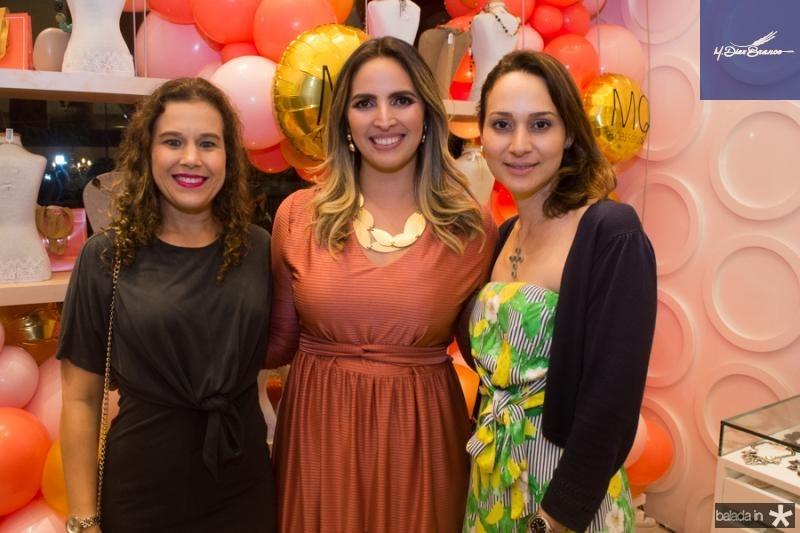 Cibele Campos, Mariana Queiroz e Juliana Gurgel