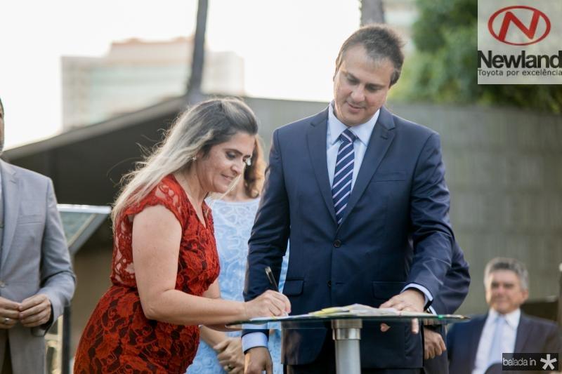 Eliane Estrela e Camilo Santana