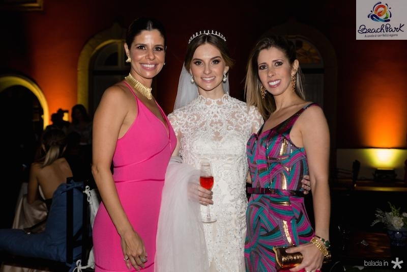 Ticiana Oliveira, Laime Paz e Marcela Oliveira