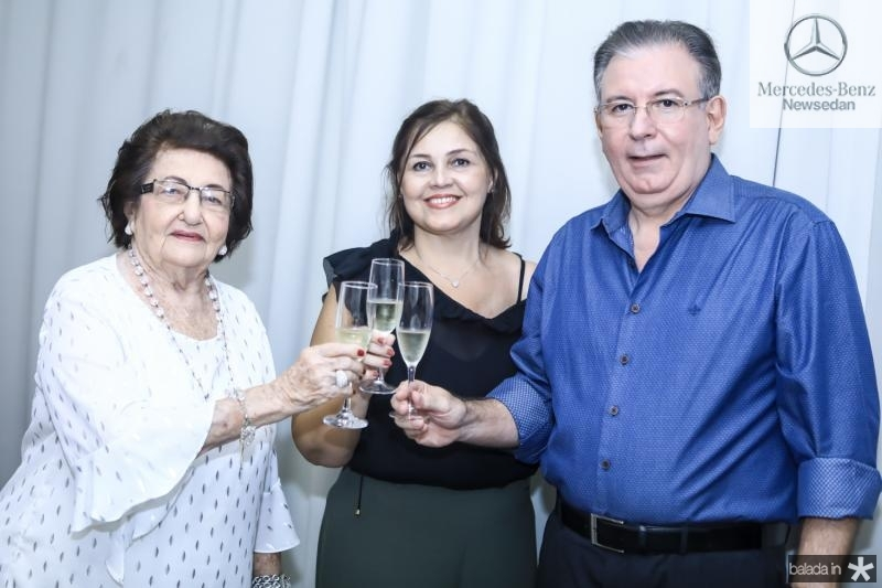 Holandina, Rosangela e Ricardo Cavalcante
