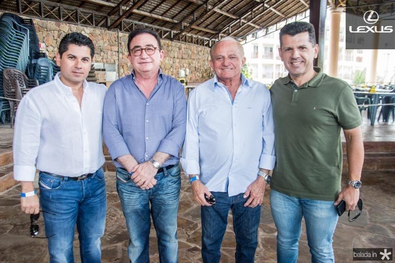 Pompeu Vasconcelos, Manoel Linhares, Edson Sa e Erik Vasconcelos