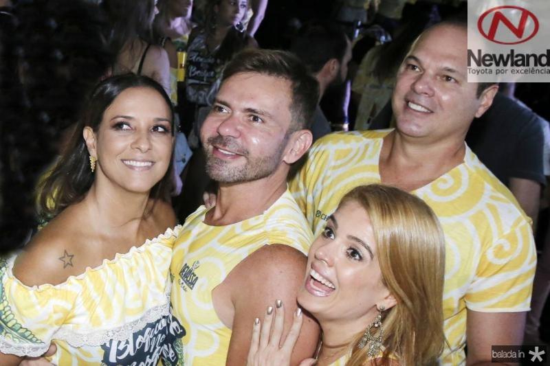 Lidia oliveira, Fred Carioca, Leticia Studart e Freitas Junior