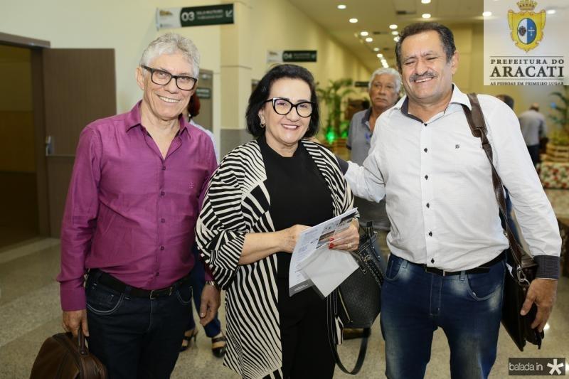 Renato Carvalho, Rosalia Ximenes e Felix Viana