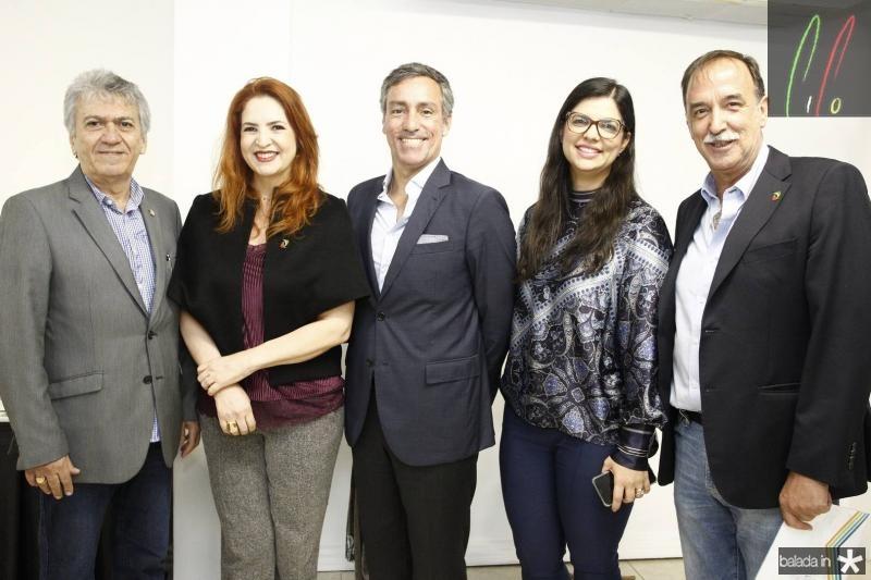 Clovis Nogueira, Enid Camara, Nuno Rebelo, Karina Frota e Armando Abreu