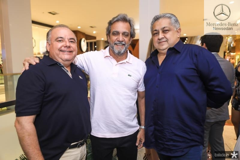 Pedro Carapeba, Ernesto Saboia e Adriano Pinto