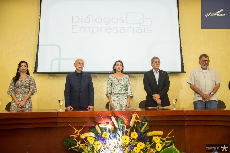Jamila Araujo, Freitas Cordeiro, Izolda Cela, Severino Ramalho Neto e Eudoro Santana