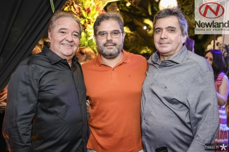Chiquinho Aragao, Edson Queiroz Neto e Totonho Laprovitera