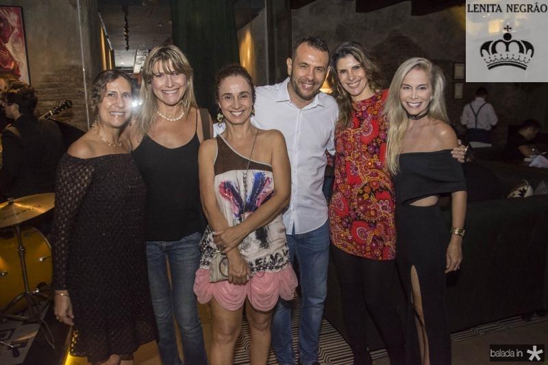 Liege Xavier, Eveline Duarte, Patricia Carvalhedo, Marco Botelho, Andreia Reis e Simone Pontes