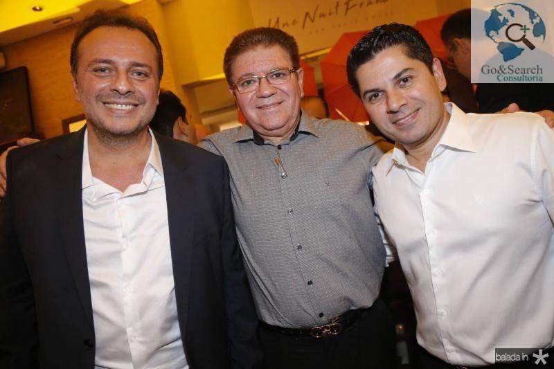 Adriano Nogueira, Ricardo Caminha e Pompeu Vasconcelos